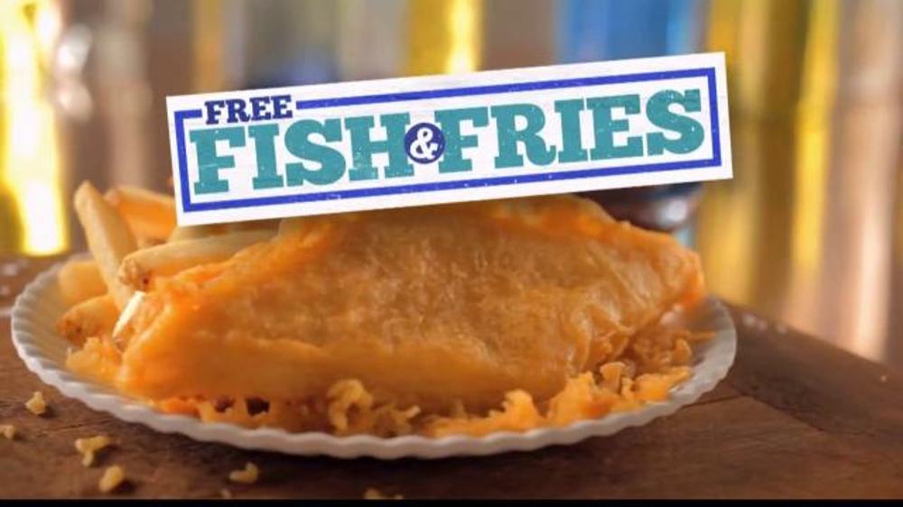 Long john silver 39 s free fish fries tv spot for Long john silver s fish and chips