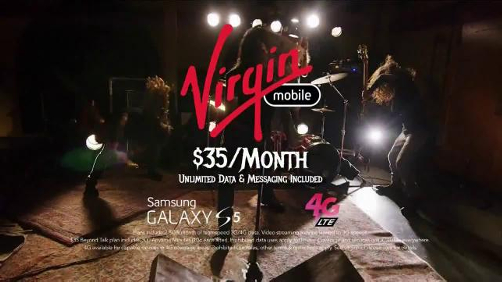Virgin Mobile Galaxy S5 TV Spot, 'Metal Band' - Screenshot 8