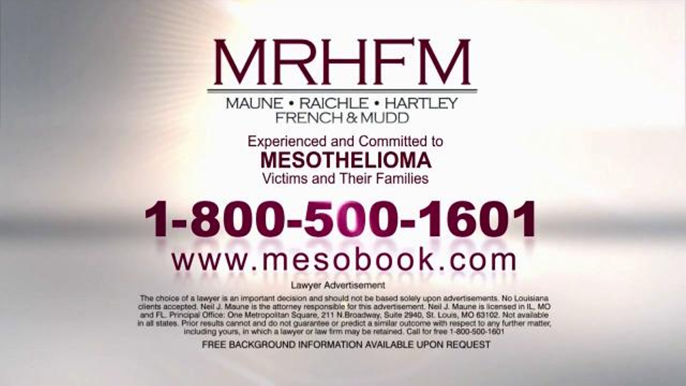 MRHFM Law Firm TV Spot, 'Mesothelioma'