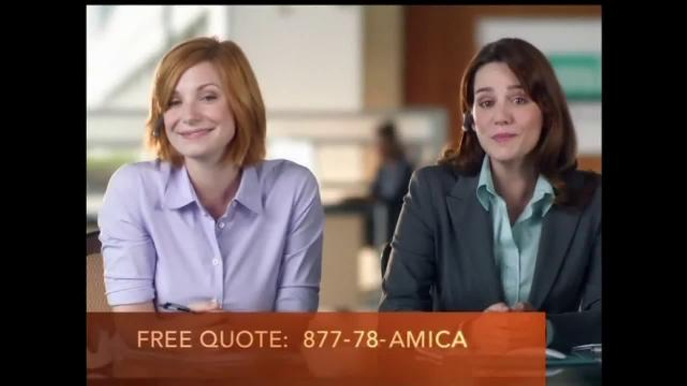 Who is the redhead in the amica commercial for Is amica insurance good
