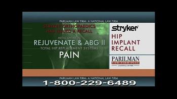 Parilman & Associates TV Spot, 'Hip Implant Recall'