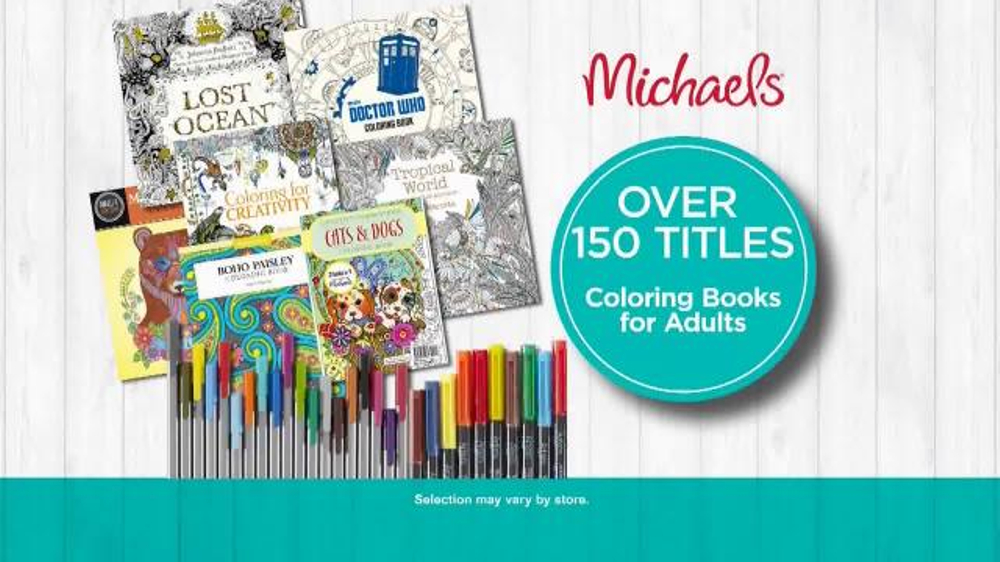 Michaels tv spot 39 what if coloring books for adults Coloring books for adults michaels