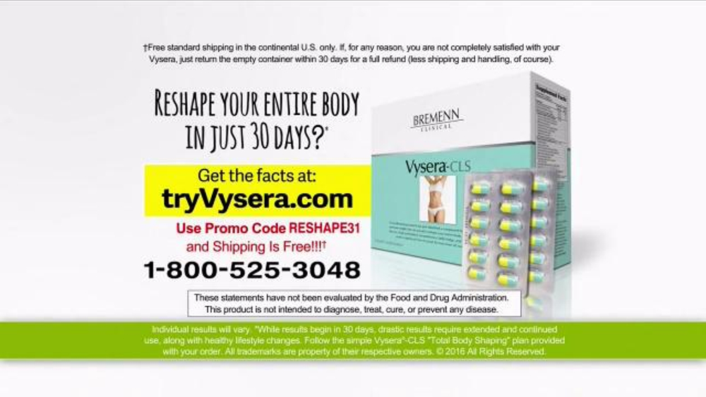 Vysera TV Spot, 'Reshape Your Body' - iSpot.tv
