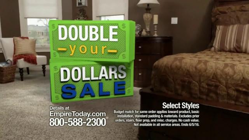 empire today double your dollars sale tv spot   u0026 39 no limit