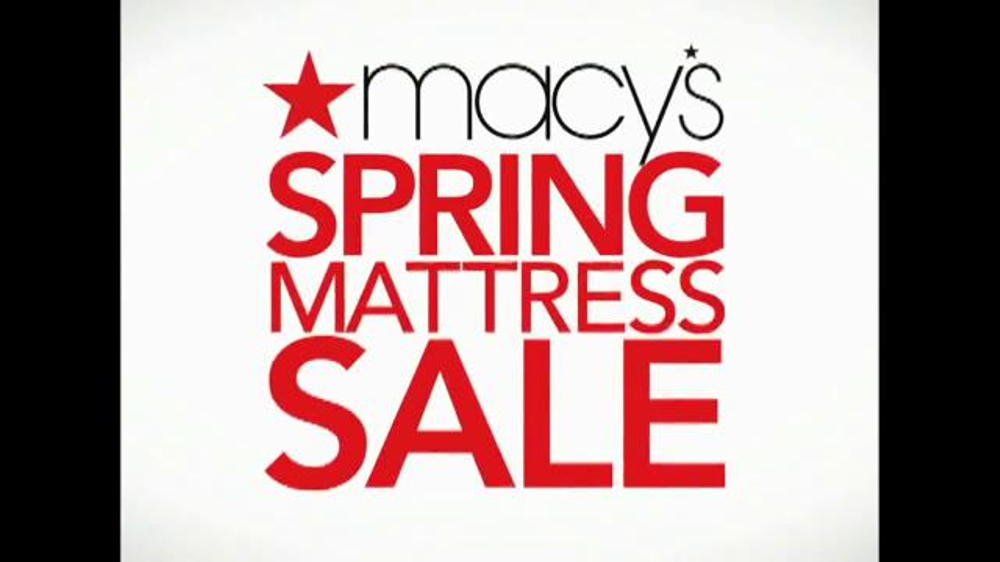 Macy s Spring Mattress Sale TV Spot Lowest iSpot
