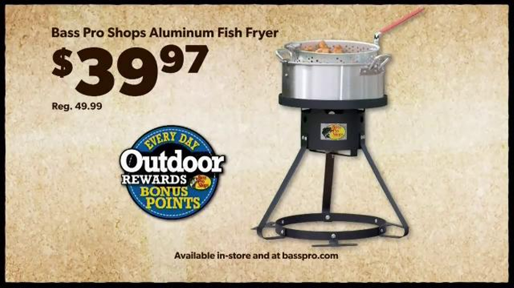 Bass pro shops tv spot 39 men 39 s under armour fish fryer for Bass pro fish fryer