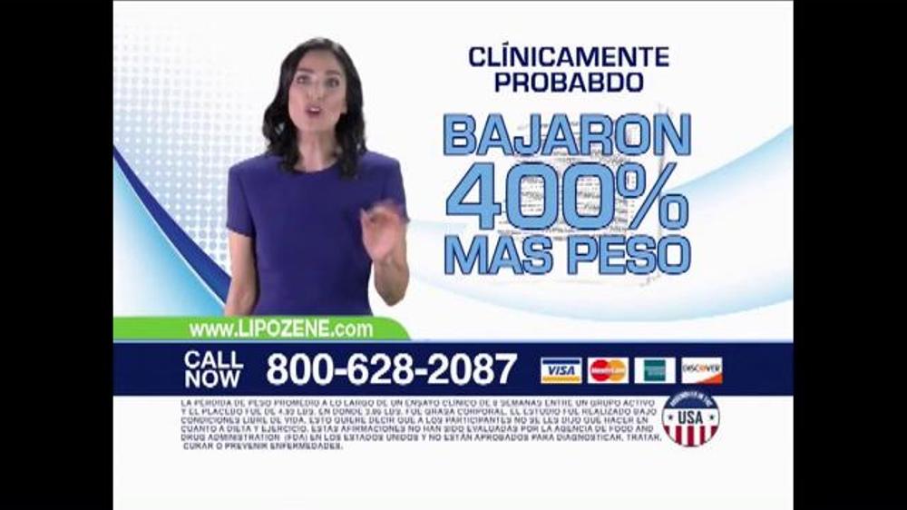 Lipozene TV Spot, 'Clínicamente probado' [Spanish] - iSpot.tv