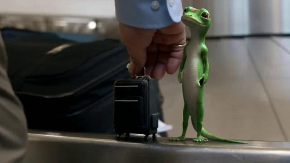 GEICO TV Spot, 'Baggage Claim: Gecko Journey' - iSpot.tv