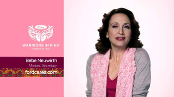 Ford warriors in pink tv spot 39 madam secretary 39 featuring for Is bebe neuwirth leaving madam secretary