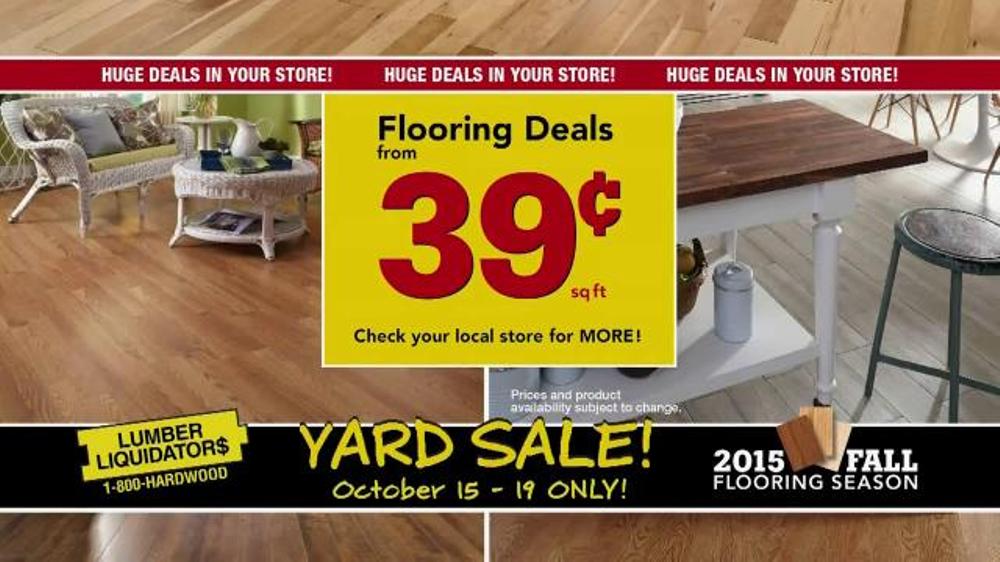 Flooring Sale Flyer : Lumber liquidators th annual fall flooring yard sale tv