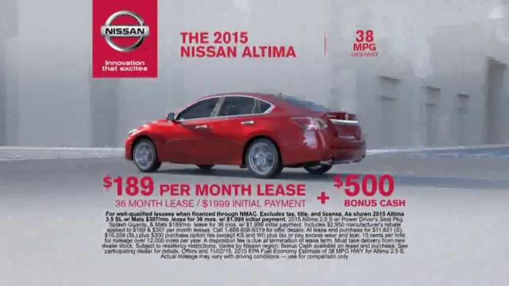 2015 nissan altima commercial how to fill the gas tank on. Black Bedroom Furniture Sets. Home Design Ideas