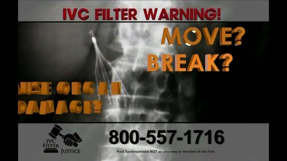 Pulaski Law Firm >> IVC Filter Justice TV Commercial, 'Serious Complications' - iSpot.tv
