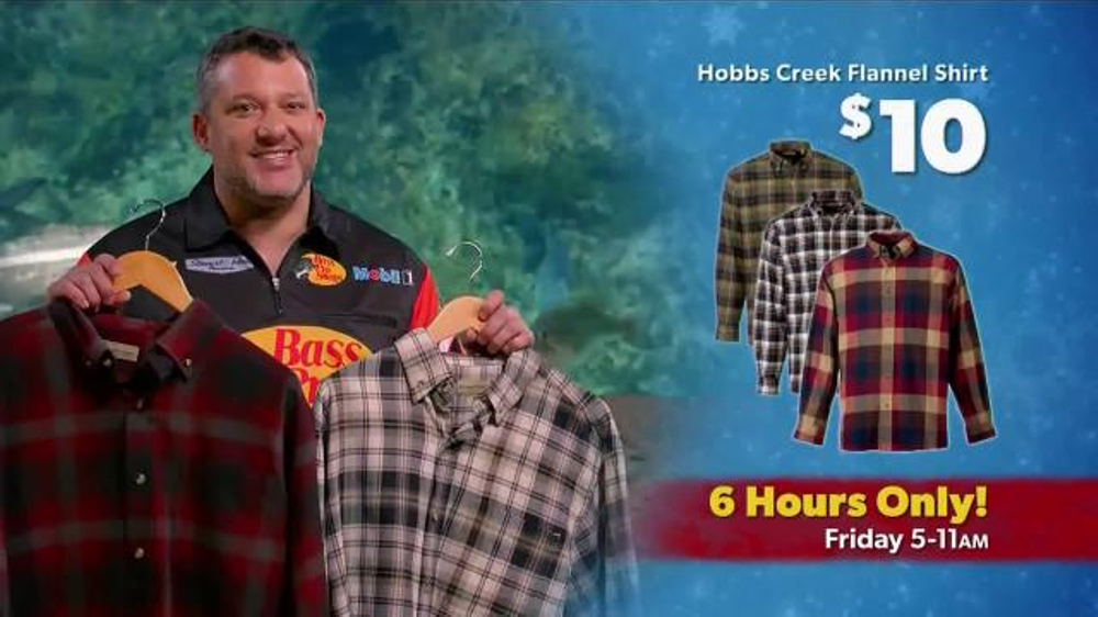 Bass pro shops black friday sale tv spot 39 flannel shirts for Bass pro fishing sale
