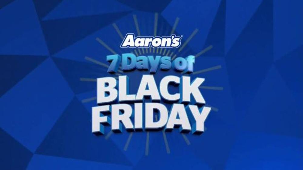 aaron 39 s 7 days of black friday tv spot 39 brilliant idea. Black Bedroom Furniture Sets. Home Design Ideas