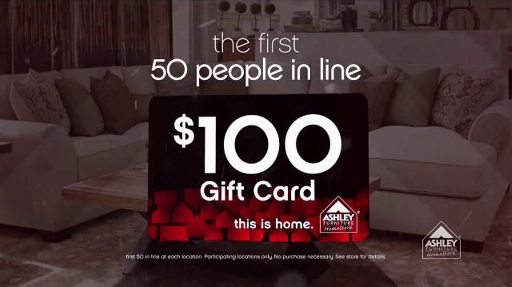Ashley Furniture Homestore Black Friday Sale Tv Spot 39 Gift Card Giveaway 39