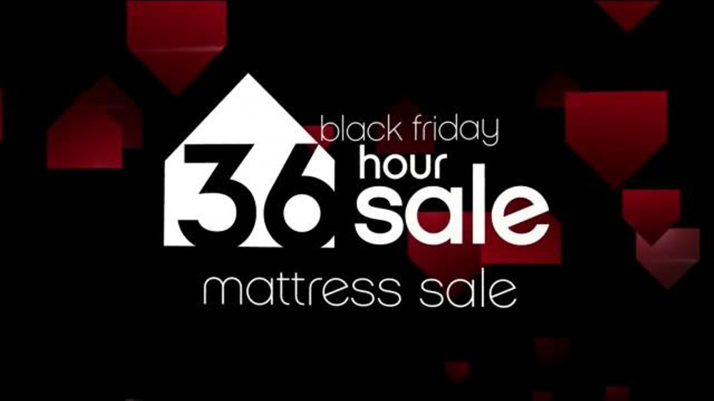 Ashley Furniture Homestore Black Friday 36 Hour Sale TV Spot, 'Mattresses'