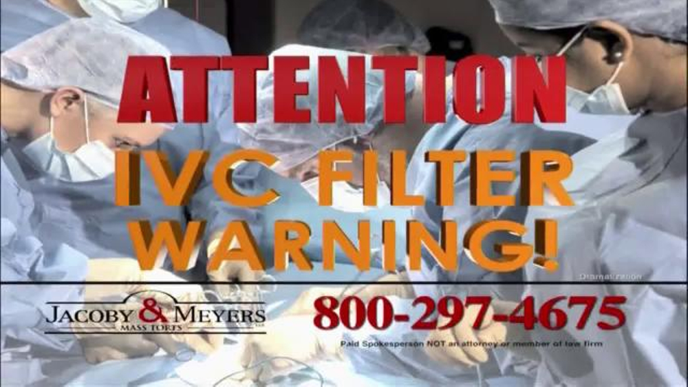 Pulaski Law Firm >> Jacoby & Meyers TV Commercial, 'IVC Filter Warning' - iSpot.tv
