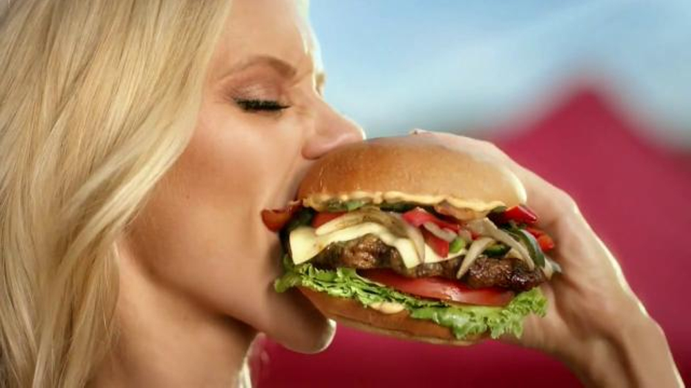 carls jr commercial Official commercial for the memphis bbq pulled pork burger from carl's jr/hardees featuring sara underwood and emily ratajkowski find this pin and more on carl's jr commercials 3 by vagan willer this carl's jr memphis bbq burger ad features half naked women fighting & dropping sauce on themselves and meat piled upon meat while a couple of men ogle and snap pictures.