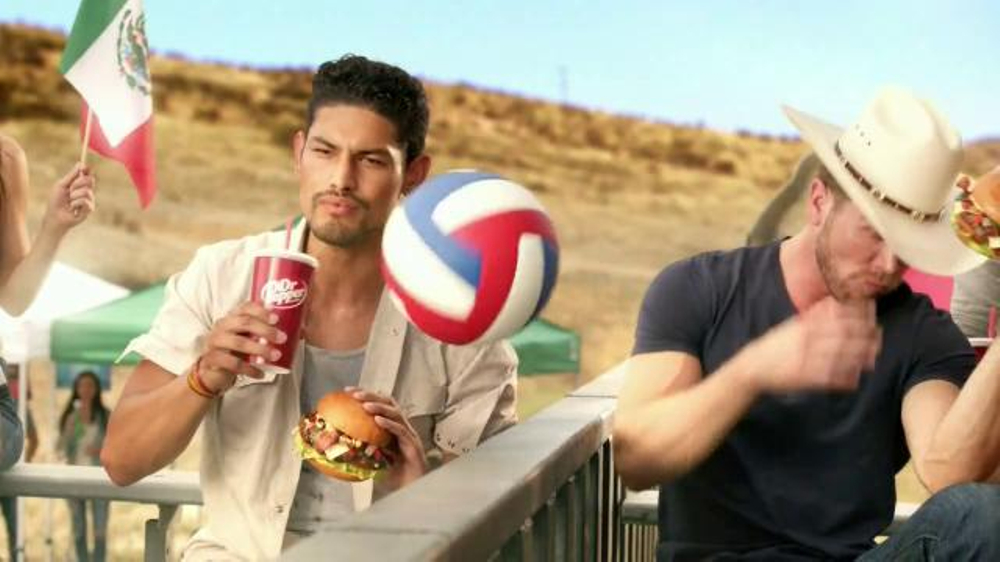 Carl s jr tex mex bacon thickburger borderball commercial