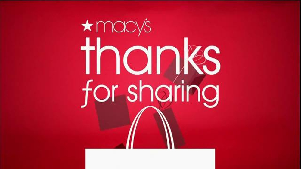 Macy's TV Commercial, 'Thanks for Sharing' - iSpot.tv