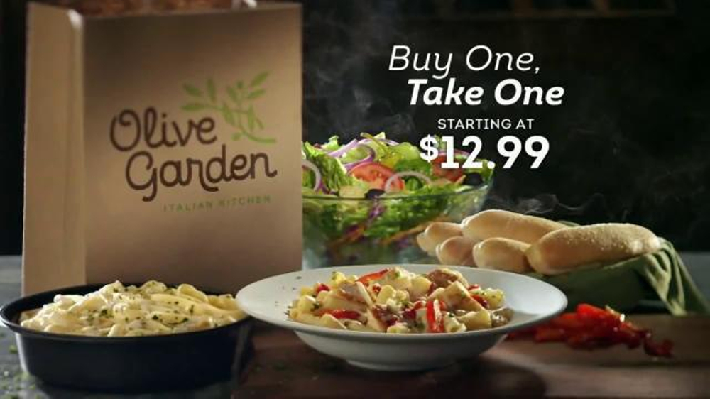 Olive garden buy one take one tv spot 39 time is running out 39 screenshot 2 Does olive garden have take out