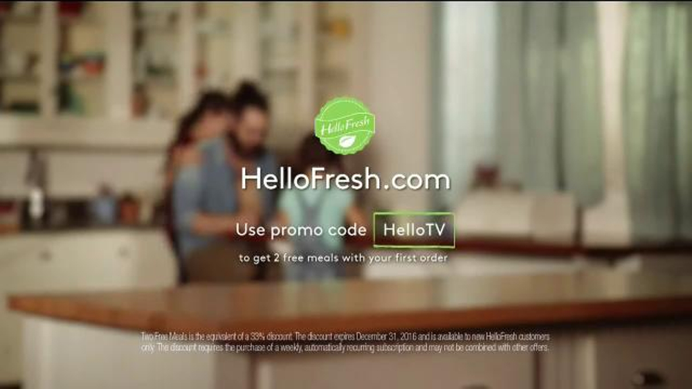 Fresh Meals Delivered >> HelloFresh TV Commercial, 'Harmony in the Kitchen' - iSpot.tv