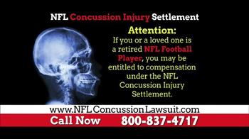 NFL Concussion Lawsuit TV Spot, 'NFL Football Player Compensation'