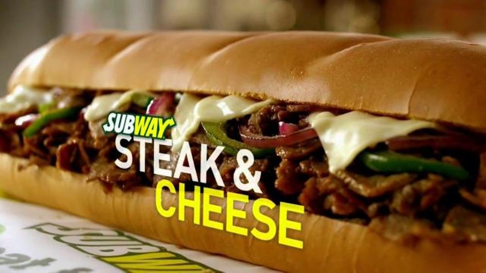 steak and cheese subway