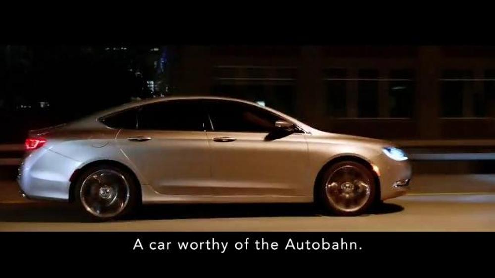 2015 Chrysler 200 Tv Spot German Performance Worthy Of