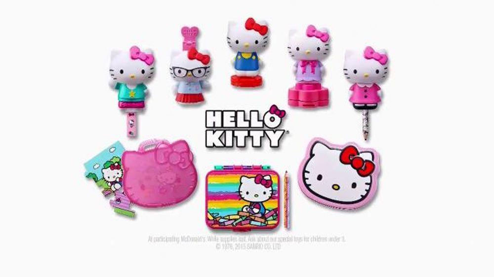 Hello Kitty Happy Meal Toys : Mcdonald s happy meal tv commercial hello kitty toys