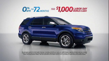 Ford Free Ride Sales Event TV Spot. 'Every 2015 Ford' thumbnail