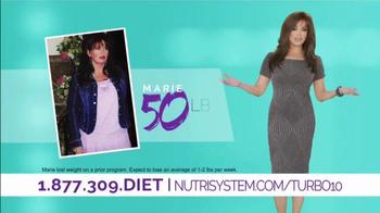 Nutrisystem Turbo10 TV Spot, 'Bust Belly Bloat' Featuring Marie Osmond
