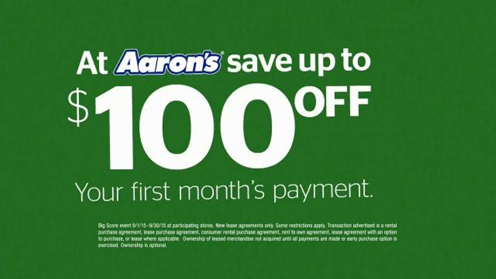 Aaron s Big Score Savings Event TV mercial Fly Away