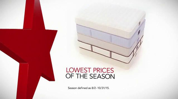 Macy's Labor Day Mattress Sale TV Spot, 'Low Prices for the Season'