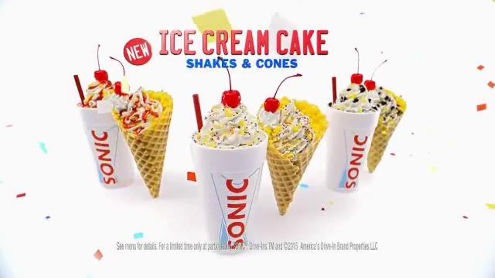 Cake Ice Cream Sonic : Sonic Drive-In Ice Cream Cake TV Spot,  Anniversary ...