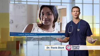 Simply Saline TV Spot, 'Congestion Questions: Laura' Ft. Travis Stork