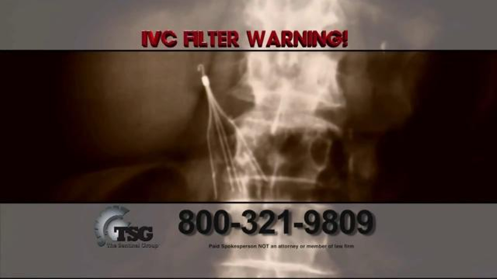 Pulaski Law Firm >> The Sentinel Group TV Commercial, 'IVC Filter Warning' - iSpot.tv