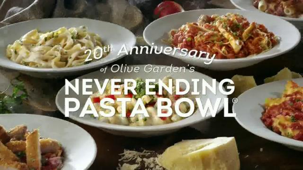 Olive garden never ending pasta bowl tv commercial 39 we 39 re celebrating 39 for Olive garden endless pasta bowl