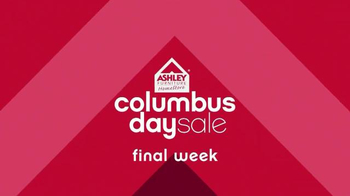 Ashley Furniture Homestore Columbus Day Sale TV Spot, 'Luxurious Bedrooms'