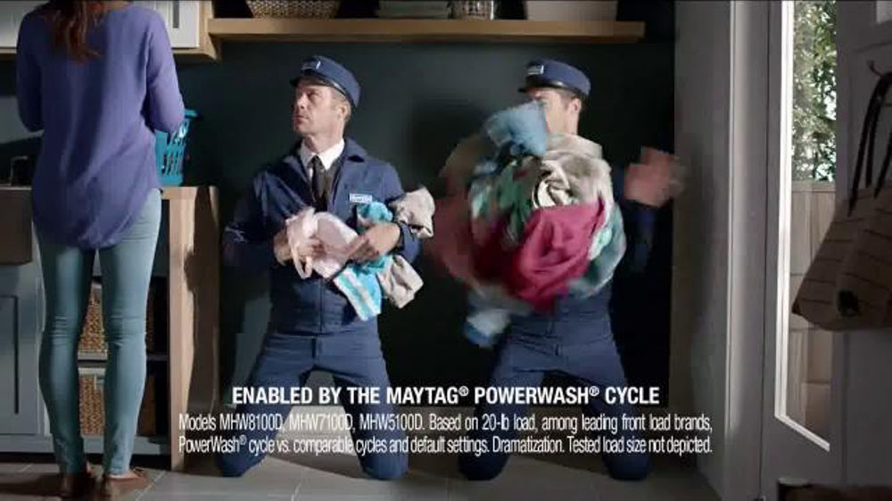 Maytag Washers & Dryers TV Spot, 'Tough Loads' Featuring Colin Ferguson - Screenshot 5