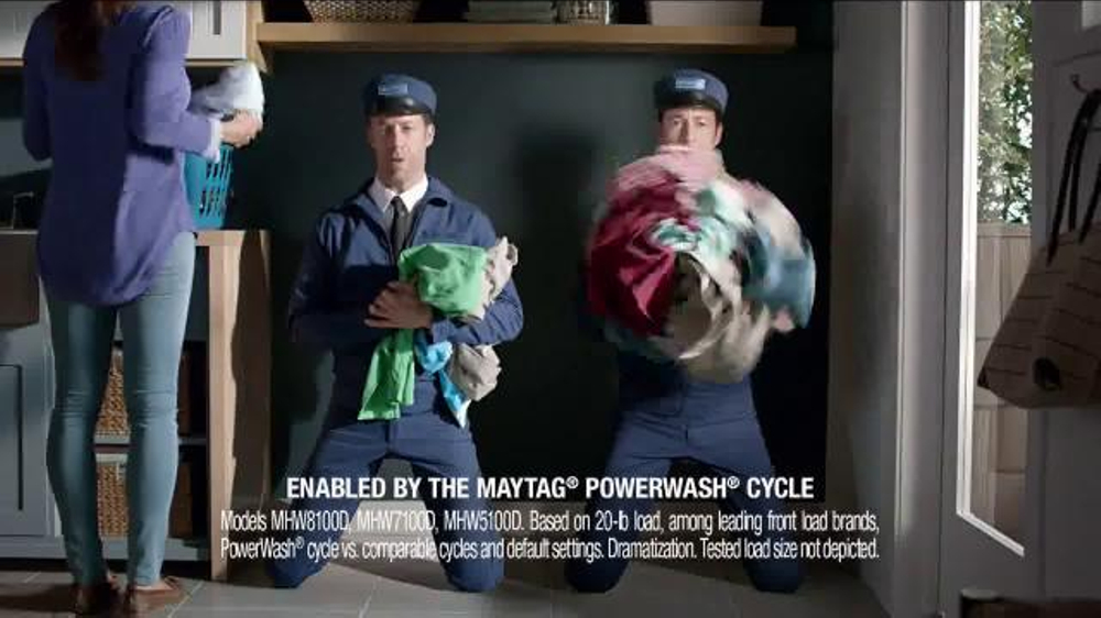 Maytag Washers & Dryers TV Spot, 'Tough Loads' Featuring Colin Ferguson - Screenshot 6