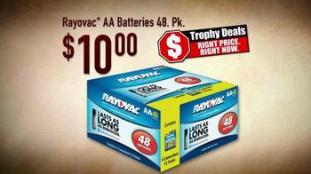 Bass Pro Shops Trophy Deals TV Spot, 'Rayovac AA Batteries'