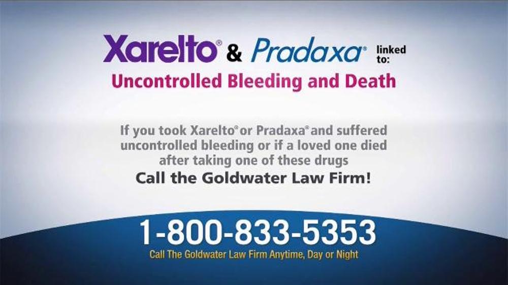 goldwater law firm tv commercial   u0026 39 xarelto and pradaxa