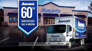 Aaron's 60th Anniversary Sale-A-Bration TV Spot, 'Lease It Now'