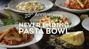 Olive Garden Never Ending Pasta Bowl TV Spot, 'We're Celebrating'