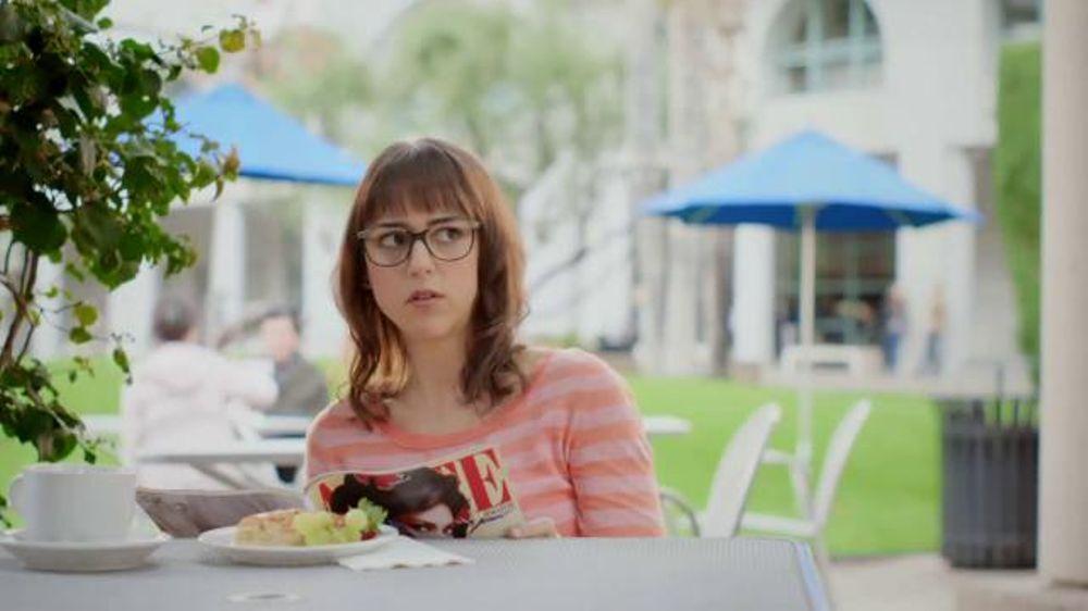 girl in the americas best designer glasses commercial