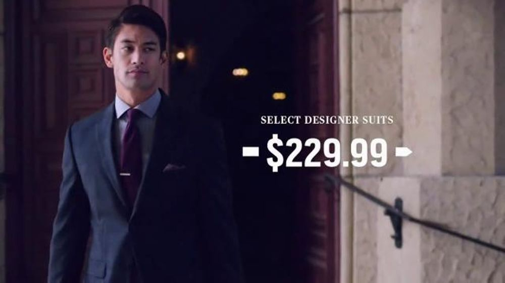 Men s wearhouse after christmas suit sale tv spot bogo screenshot