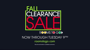 Rooms to Go: Fall Clearance Sale: Time Is Ticking