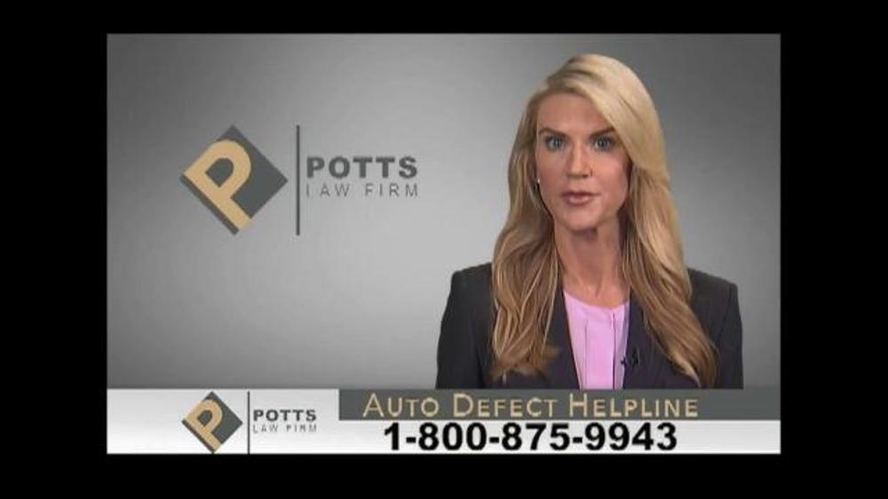 Pulaski Law Firm >> Potts Law Firm TV Spot, 'Auto Defect Helpline' - iSpot.tv