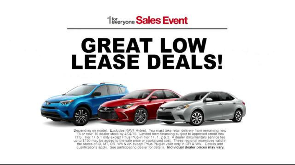Toyota 1 For Everyone Sales Event Tv Spot Back Up Camera